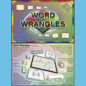 Word Wrangles Board Game Front and Back Cover